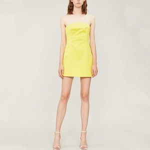 Topshop Retro Neon Bandeau Mini Crepe Party Dress